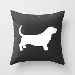 Basset Hound Silhouette(s) Throw Pillow