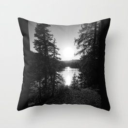 Devils Lake Throw Pillow
