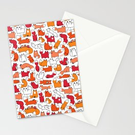 Foxy Foxes Doodle Stationery Cards