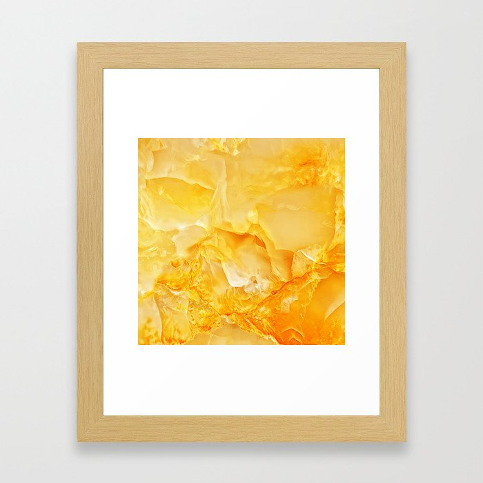 Yellow Onyx Marble Framed Art Print By Patternmaker