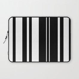 Minimalist Era - Black & White Stripe Asymmetrical Laptop Sleeve
