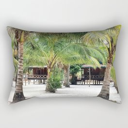Bungalows on Palm Beach Rectangular Pillow