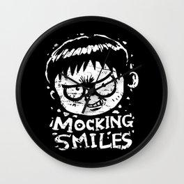 Mocking Smiles Wall Clock