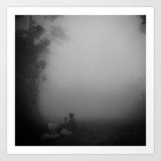 Sitting in the Mist Art Print