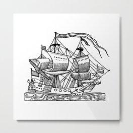 Ship Barco Bateau Schiff лодка Metal Print