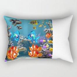 Aquarium Sealife Fish Rectangular Pillow