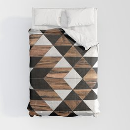 Urban Tribal Pattern No.9 - Aztec - Concrete and Wood Comforters