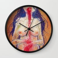 vampire Wall Clocks featuring vampire by isthatwhatyoumint