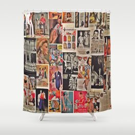 Retro Advertisements  Shower Curtain