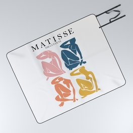 Abstract woman pastel color matisse woman artwork the cut outs Picnic Blanket