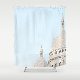 Blue Paris Shower Curtain