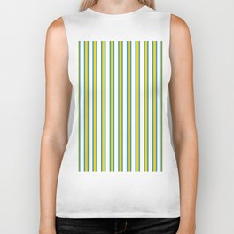 Stripe Circus Yellow Vertical Biker Tank