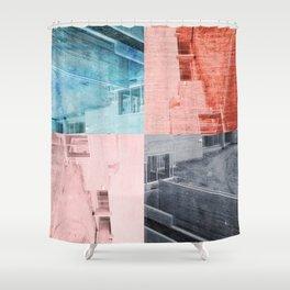 Popart Building Shower Curtain