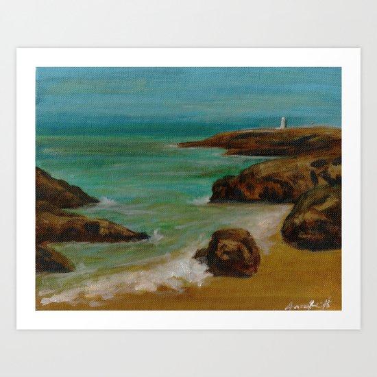 Gwithian Beach (2014) Art Print
