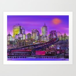 Boston blinding lights Art Print