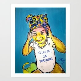 Black Queen in Training Art Print