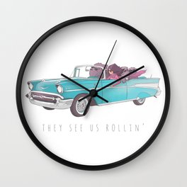 The See Us Rollin' Wall Clock