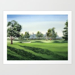 Winged Foot Golf Course New York Art Print