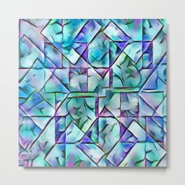 Stain Glass Fantasy Abstract Metal Print