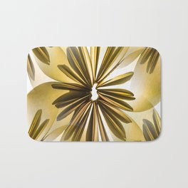 Origami Flowers Golden Tones #decor #society6 #buyart Bath Mat