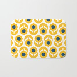 Joy collection- Yellow flowers Bath Mat