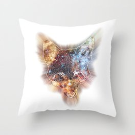 Star Coyote Throw Pillow
