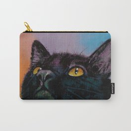 Black Cat Butterfly Carry-All Pouch