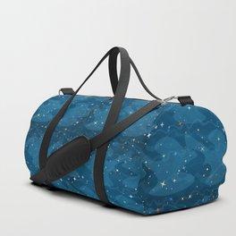 Nebula Waves and Stars Pattern Duffle Bag