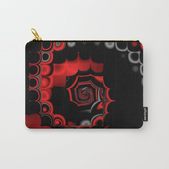 TGS Fractal Abstract in Red and Black Carry-All Pouch