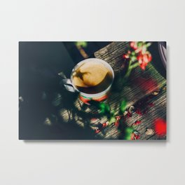 Espresso in the morning Metal Print