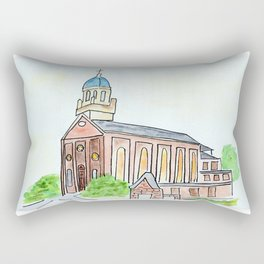 University of Dayton watercolor, UD Chapel, Dayton, OH Rectangular Pillow