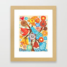 Pop Flowers Framed Art Print