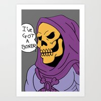 skeletor Art Prints featuring Skeletor by Robert Payton