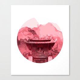 Vietnam Quoc Tu Giam Temple Hanoi capital Canvas Print