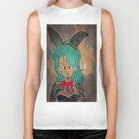 dragon ball Biker Tanks featuring First Lady Of Dragon Ball  by Artistic