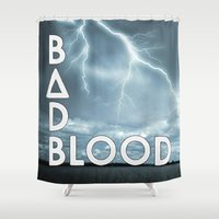 bastille Shower Curtains featuring Bastille - Bad Blood #2 by Thafrayer
