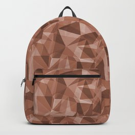 Abstract Polygon Sherwin Williams' Color of the Year for 2019, Cavern Clay SW7701 Cubism Triangle 3 Backpack