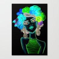 megan lara Canvas Prints featuring LARA by Isaboleta