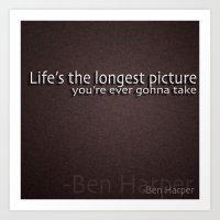 -Ben Harper Art Print