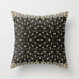 Midnight Romance Sari Throw Pillow