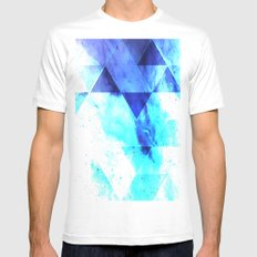 Ice background Mens Fitted Tee White MEDIUM