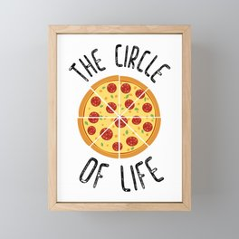 The Circle Of Life Funny Quote Framed Mini Art Print