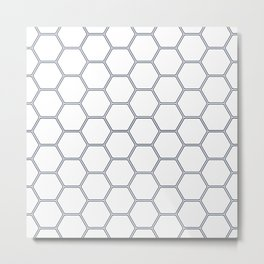 Honeycomb Navy #278 Metal Print