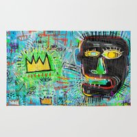 basquiat Area & Throw Rugs featuring Basquiat's Head by Rookery Design
