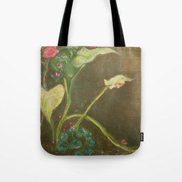 Lilly and Camelia pastel painting Tote Bag