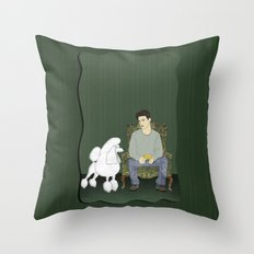 Meet the Poodle Throw Pillow