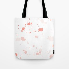 Pink Peach Paint Splatters Tote Bag