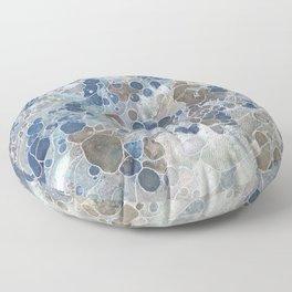 Pebbles in the Creek #3 Floor Pillow