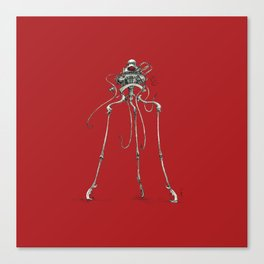 Martian Tripod Queen: Mars Red Canvas Print