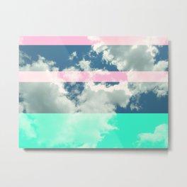 Rainbow Fluff Metal Print